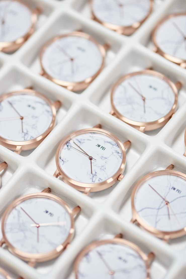 The White Marble Dial Watch