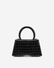 Molly Top Handle Bag - Black Croc