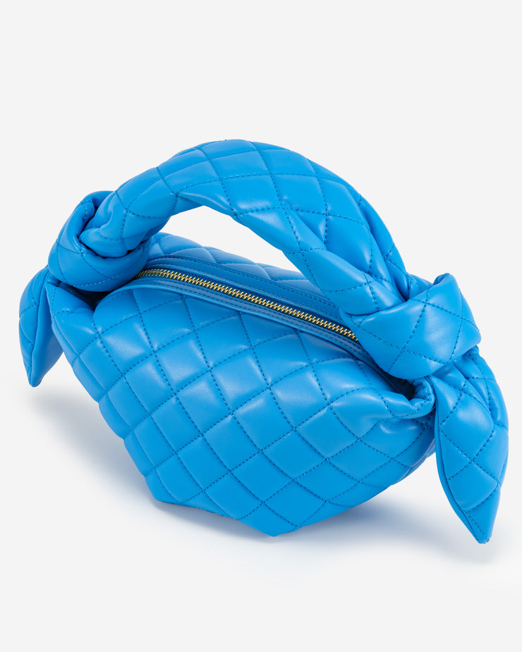 Croissant Top Handle Bag -  Lake Blue