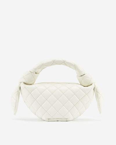 Croissant Top Handle Bag - White