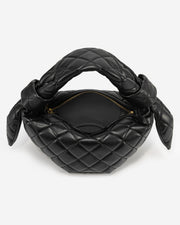 Croissant Top Handle Bag - Black