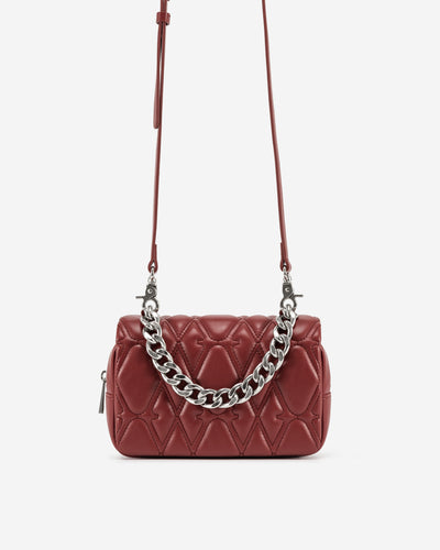 Nora Crossbody Bag - Wine Red