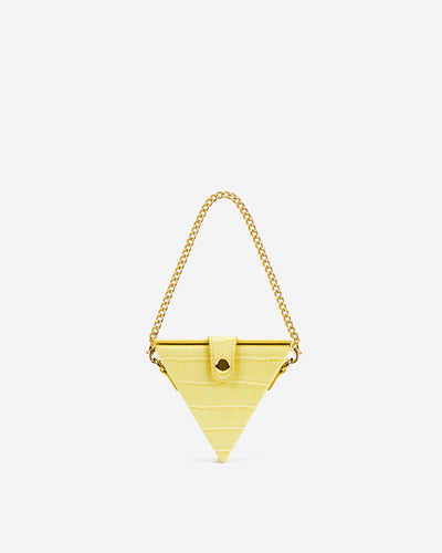 Triangle Mini Box - Light Yellow Croc