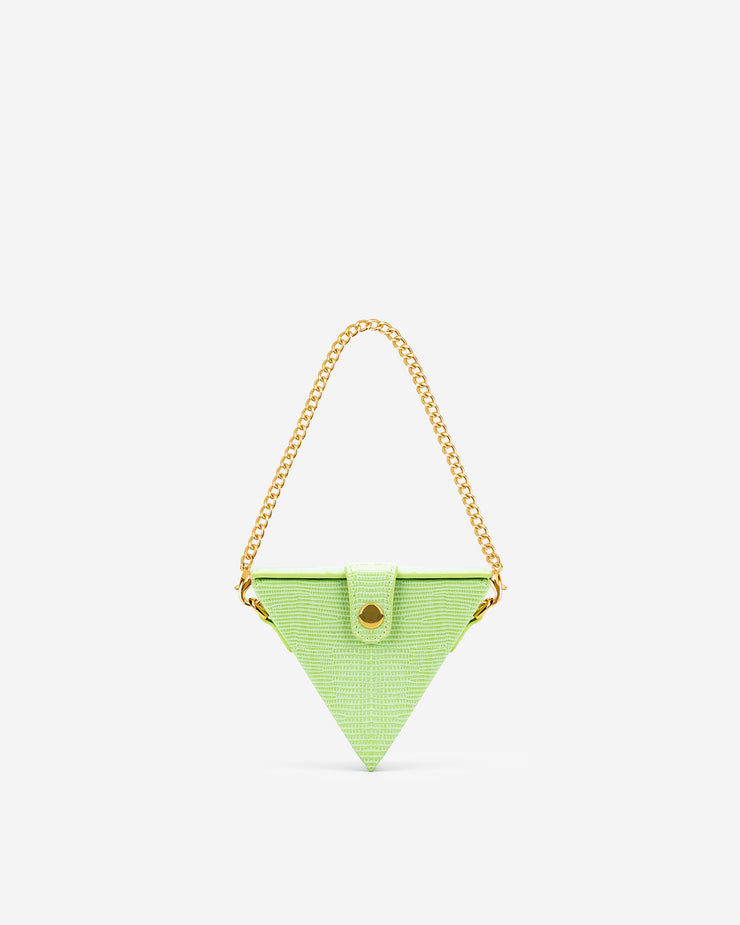 Triangle Mini Box - Lime Green Lizard