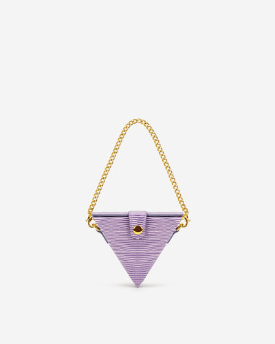 Triangle Mini Box - Purple Lizard