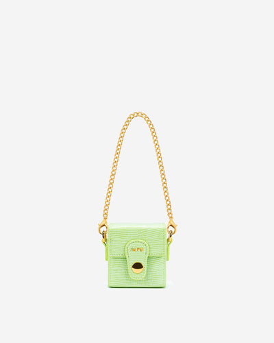 Square Mini Box - Lime Green Lizard