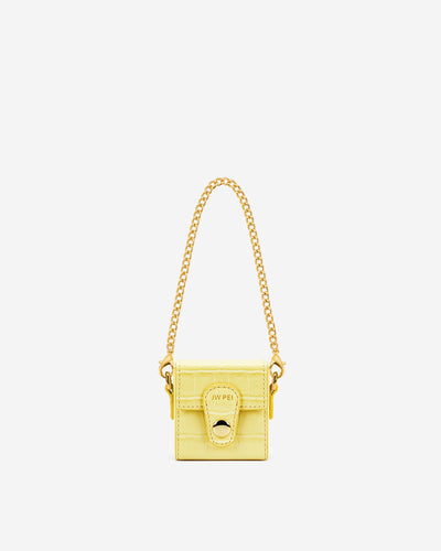 Square Mini Box - Light Yellow Croc