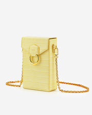 Lola Gradient Chain Phone Case - Light Yellow Croc