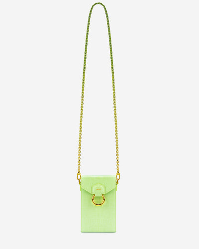 Lola Chain Phone Case - Lime Green Lizard