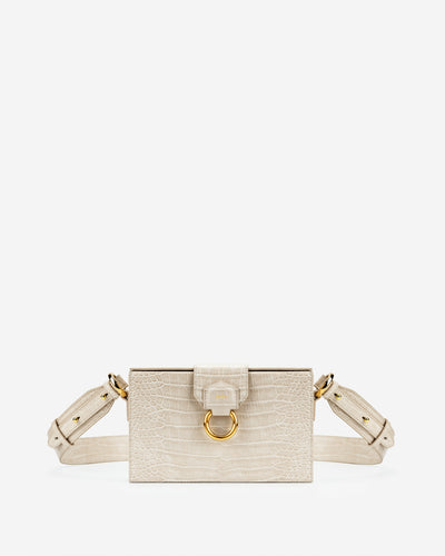 Grace Box Bag - Ivory  Croc