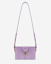 Grace Box Bag - Purple Lizard