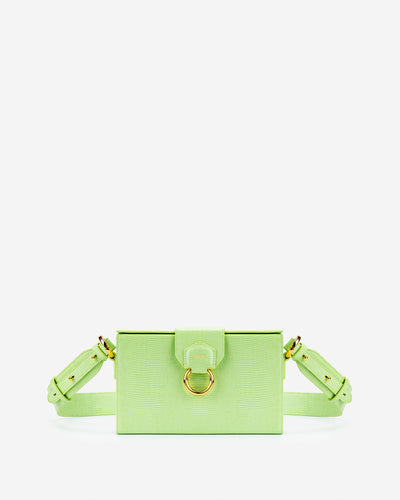 Grace Box Bag - Lime Green Lizard