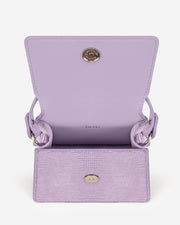 Fae Mini Top Handle Bag - Purple Lizard