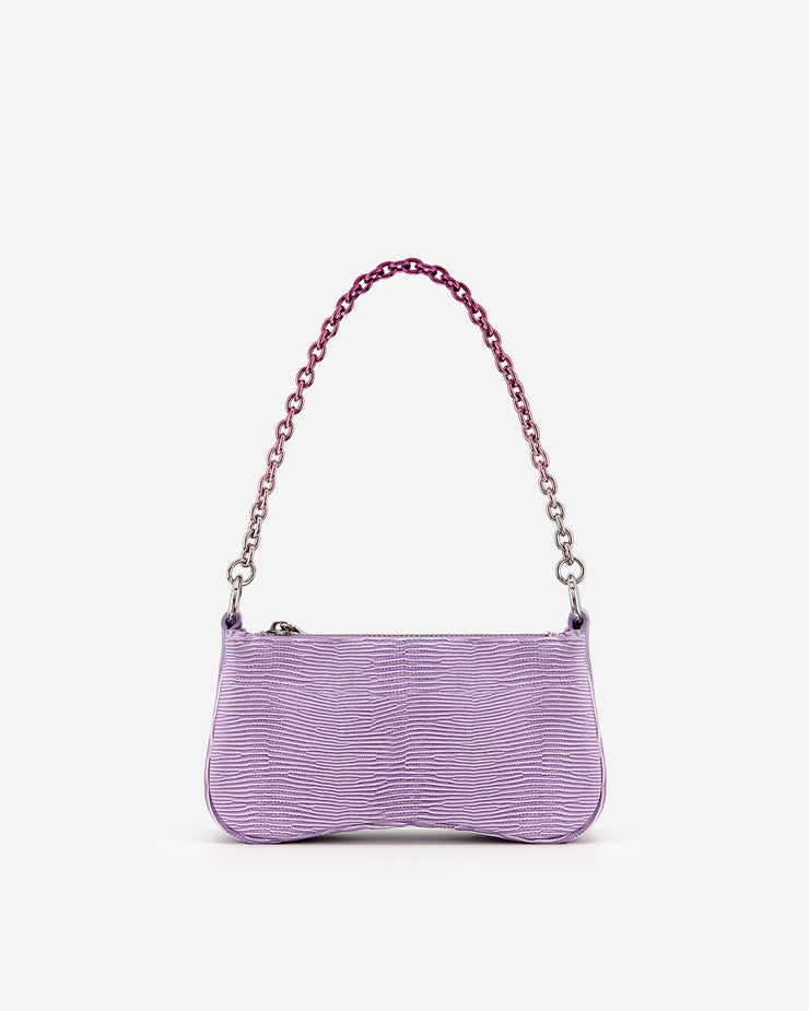 Eva Mini Gradient Chain Shoulder Bag - Purple Lizard