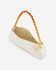 Eva Mini Gradient Chain Shoulder Bag - White Lizard