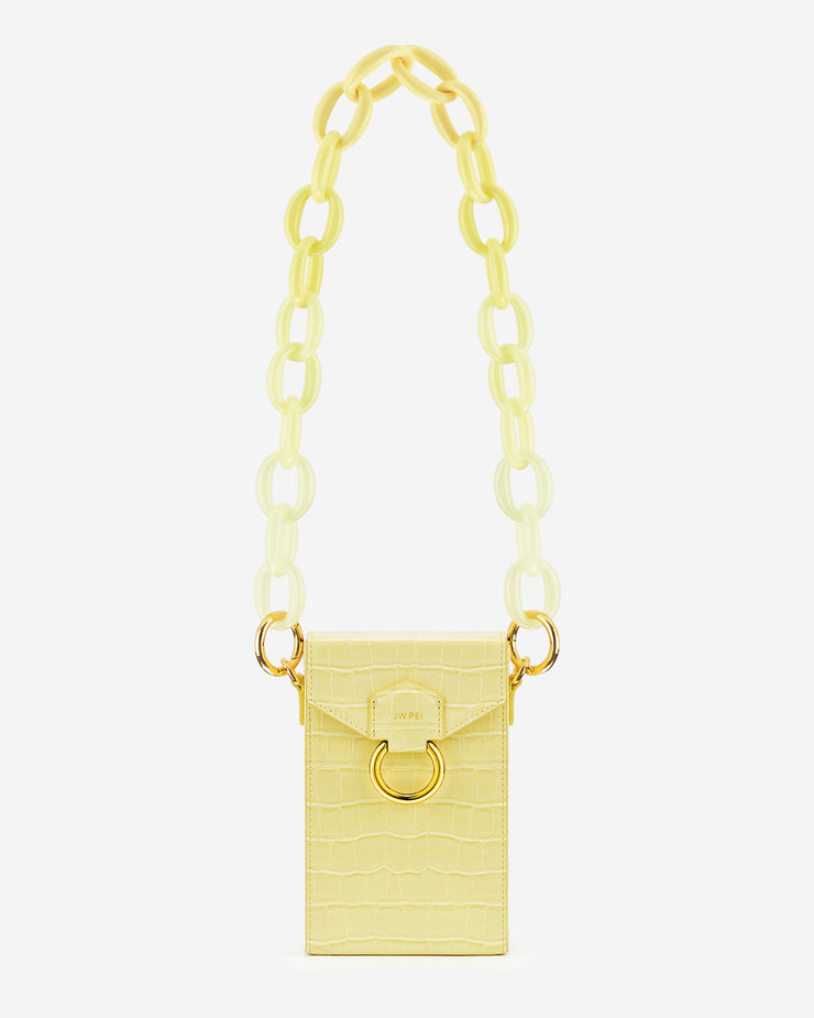 Mya Gradient Acrylic Chain Strap - Yellow