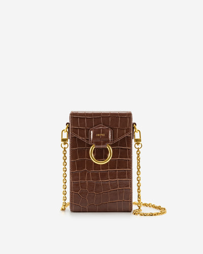 Lola Chain Phone Case - Brown