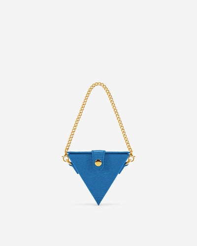 Triangle Mini Box - Classic Blue Lizard