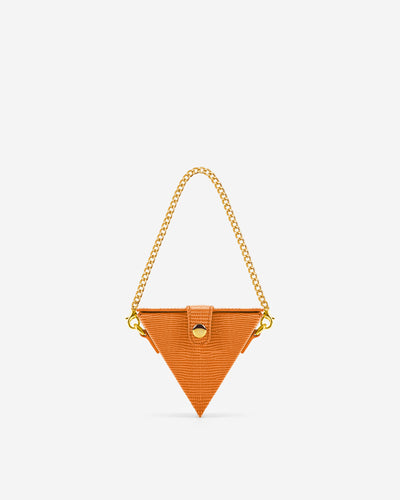 Triangle Mini Box - Orange Lizard