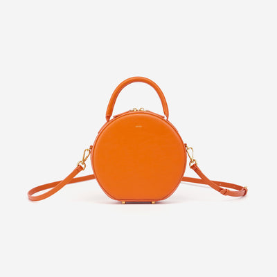 Mini Circle Top Handle Bag - Feu