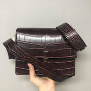 Mini Flap Bag - Brown Croc