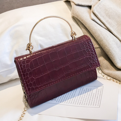 Sophia Crossbody Bag - Burgandy Croc