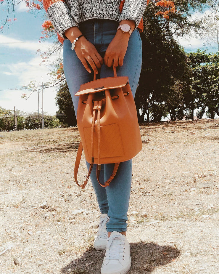 The Drawstring Backpack - Tan
