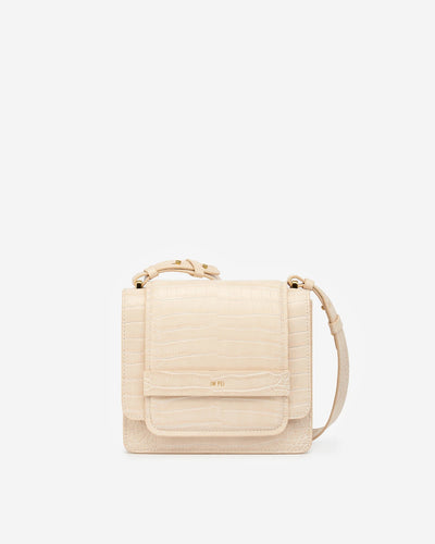 The Fiona Bag - Beige Croc