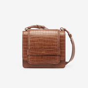 The Fiona Bag - Brown Croc
