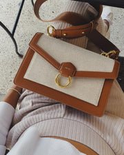 The Envelope Crossbody - Beige Canvas