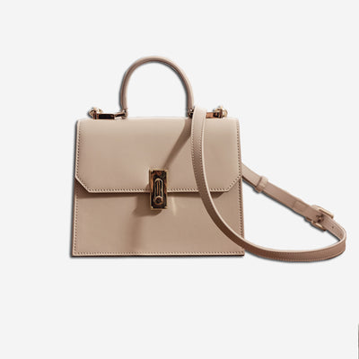 Zoe Top Handle Bag - Beige