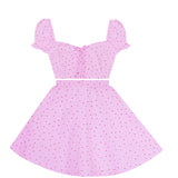 Sweet Strawberry Picnic 2 Piece Dress