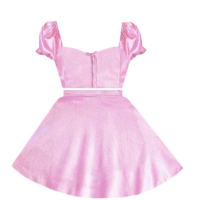 Blushing Love Velvet 2 Piece Dress
