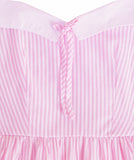 Strawberry Pocky Retro Sailor Dress with Pockets