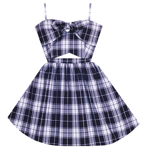 Checkmate Cutout Dress