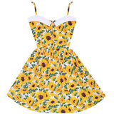 Sunflower Retro Sailor Dress with Pockets
