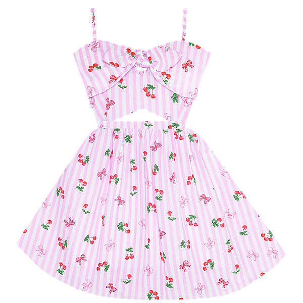 Merry Cherry Cutout Dress