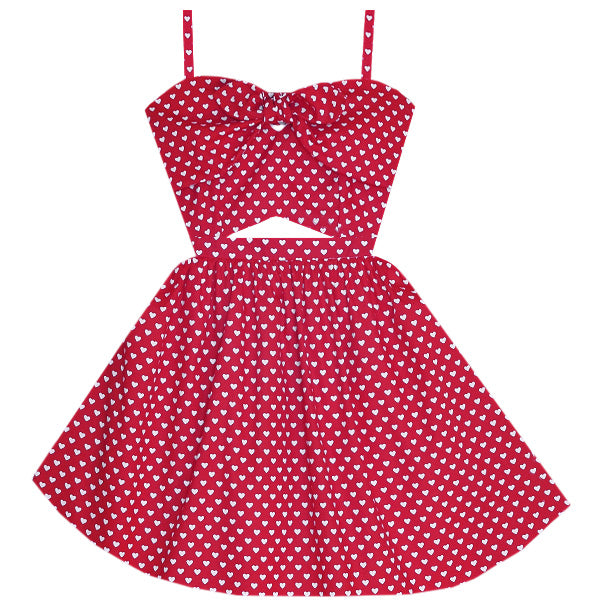 Queen of Hearts Cutout Dress