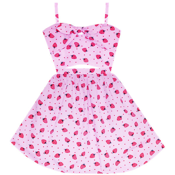 Strawberry Pocky Cutout Dress