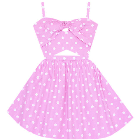 Retro Barbie Cutout Dress
