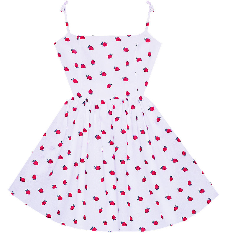 Strawberry Jam Marilyn Dress with Pockets