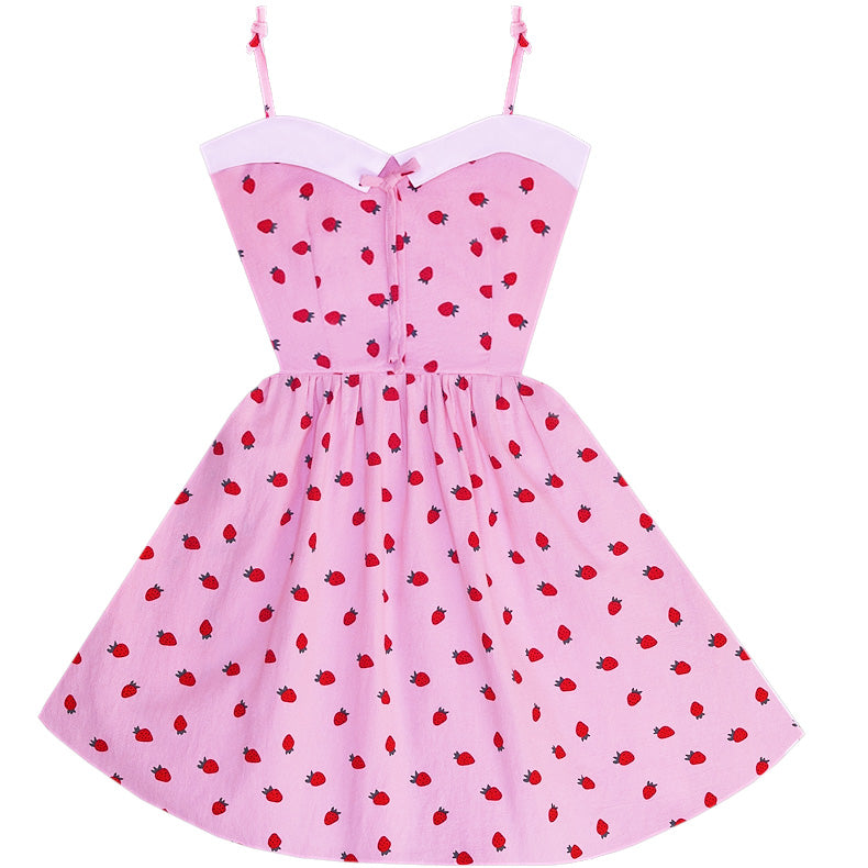 Berry Cute Retro Sailor Dress with Pockets