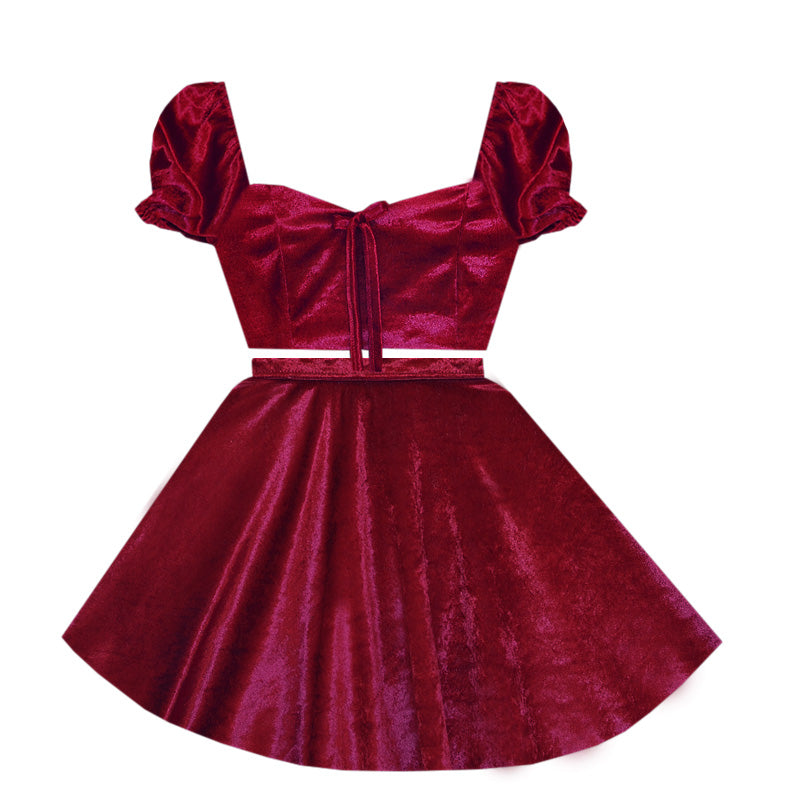 True Romance Velvet 2 Piece Dress
