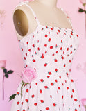 Sweet Strawberry Monroe Dress with Pockets