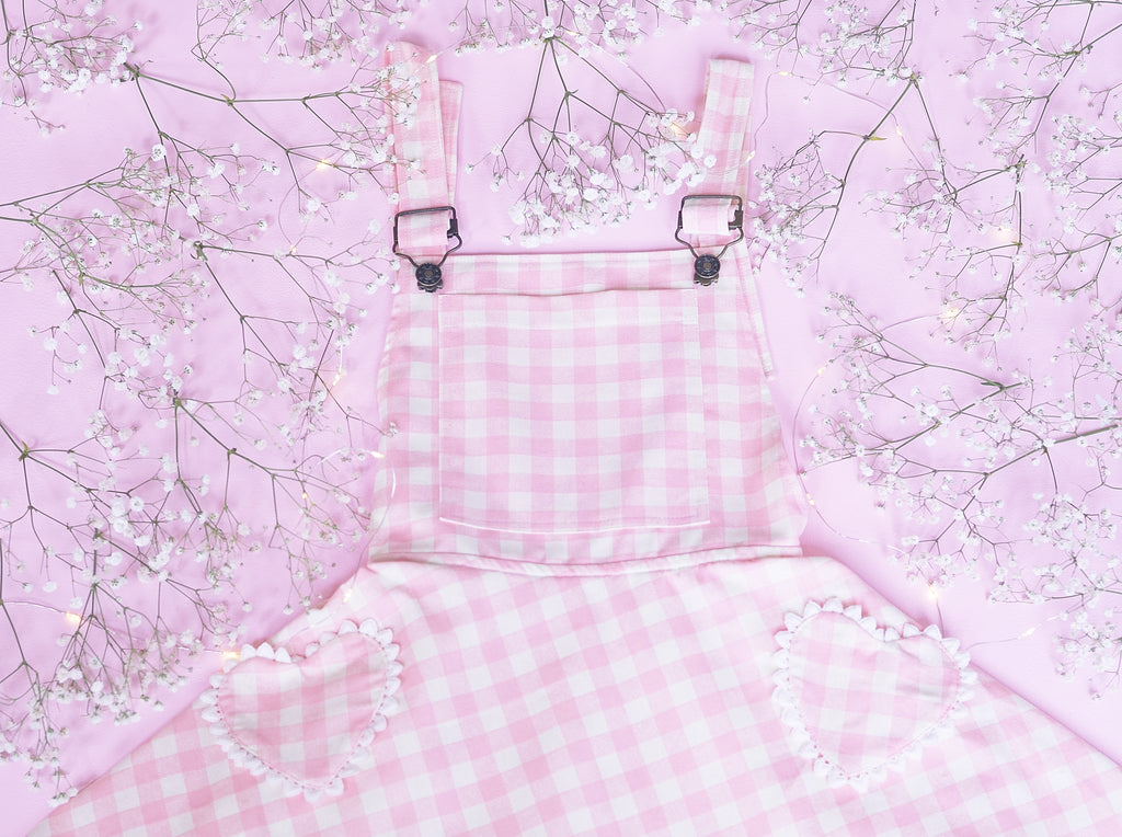 Blushing Beauty Heart Pocket Overalls