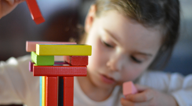 adhd blog - child playing with blocks