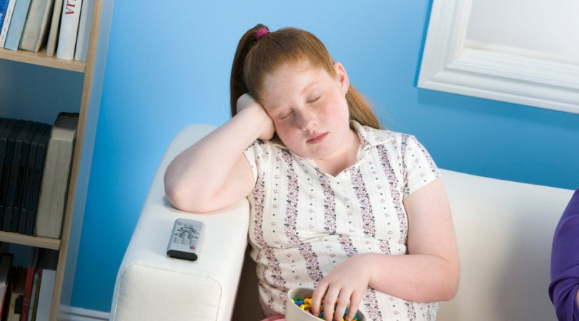 obesity in adolecent and young children - sleeping teenager