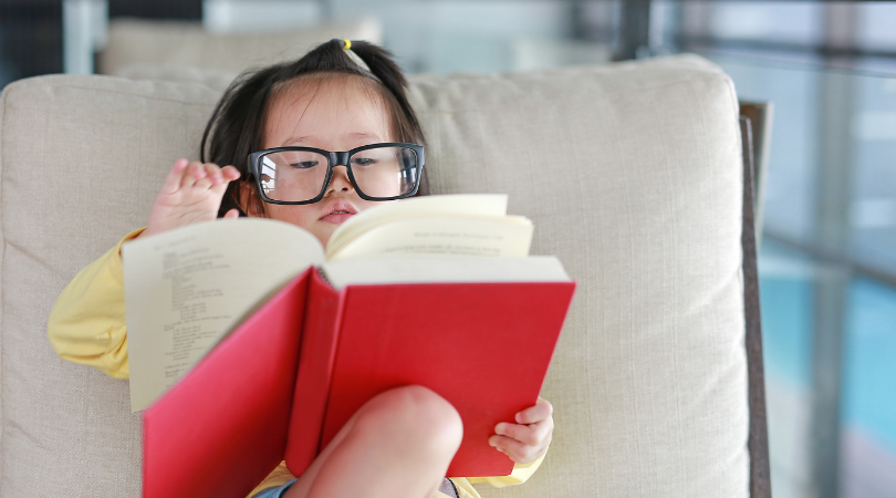 children's learning development and sleep - young child reading