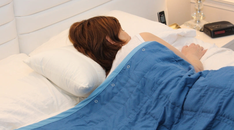 BB weighted blanket sleeping woman