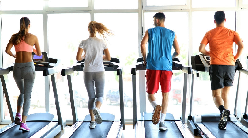 Weight Loss and Far Infrared blog - running on the treadmill